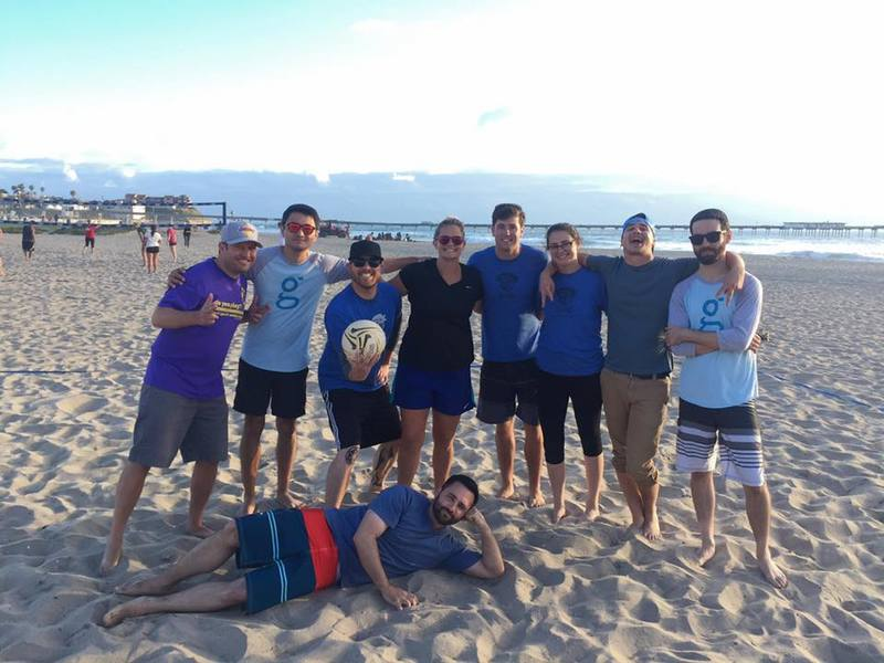 gappers Playing Volleyball