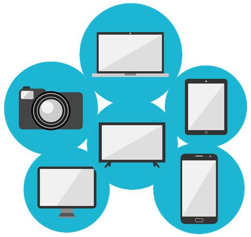 Tech icons.