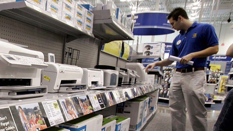 Best Buy Printer Aisle