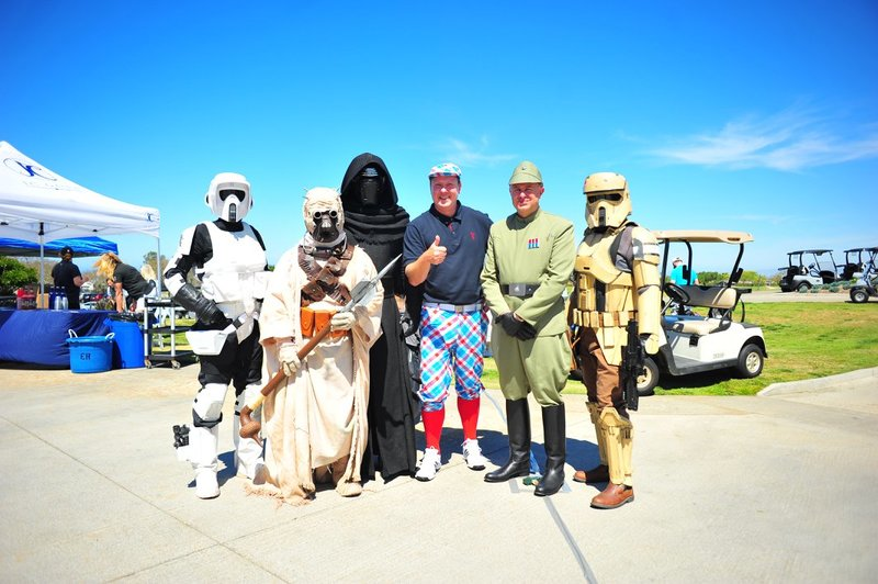 Gary with Star Wars characters.