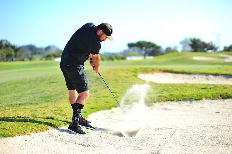Tim Ahsing golfing at Drives for Rides