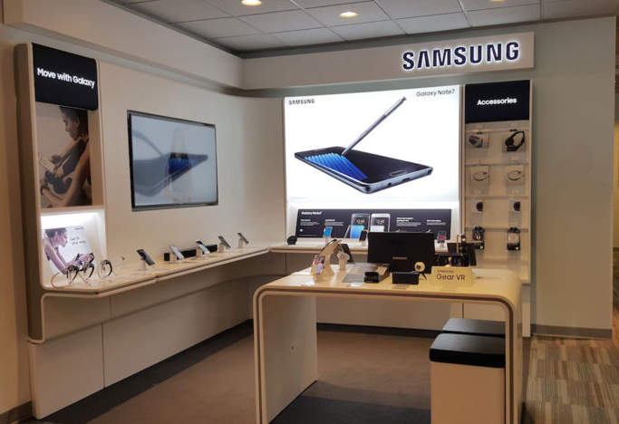 Photograph of Samsungs Shop in Shop Stores