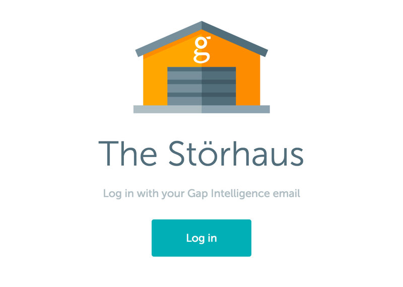 The Storhaus log in page