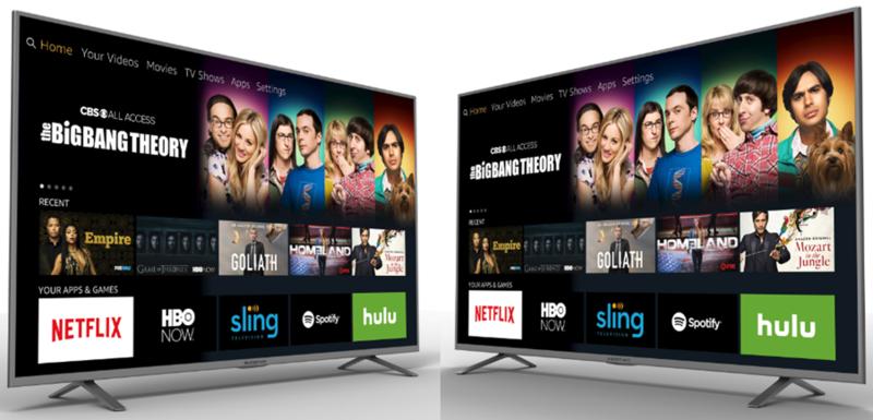 Image of Element and Westinghouse Amazon TVs