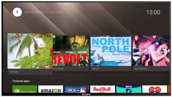 Image of Sony Android TV OS