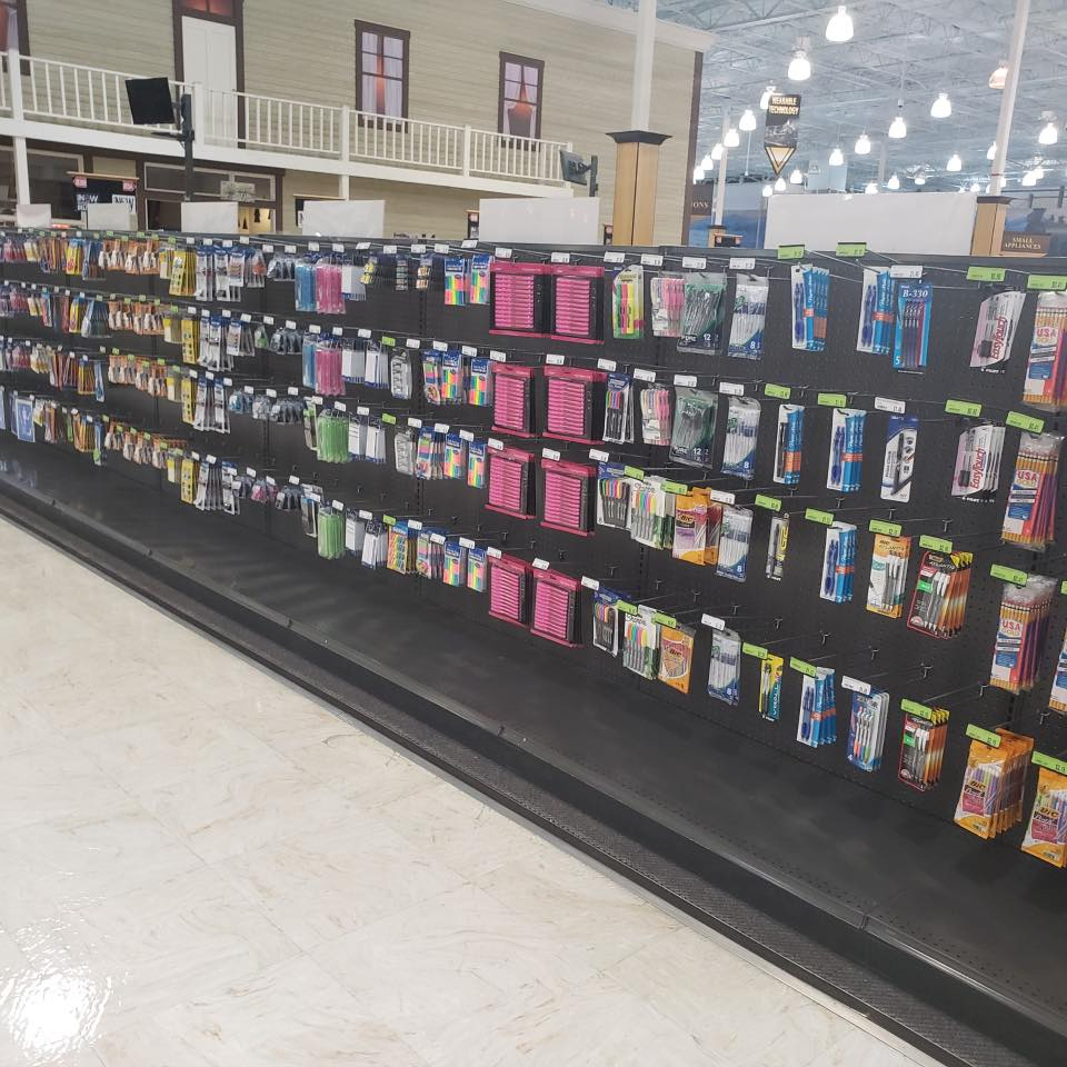 Fry's Electronics Facebook Post of Stocked Shelves