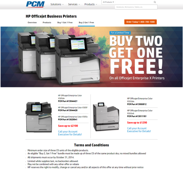 HP Business Inkjet Buy Two Get One Free Promotion