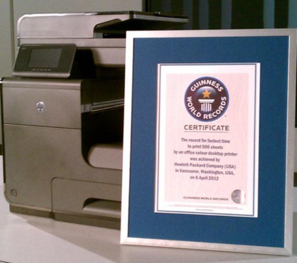 HP Business Inkjet Guinness World Record Award