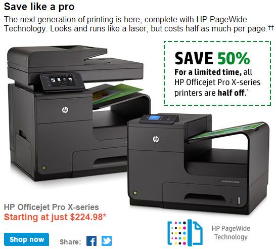 HP Business Inkjet Half Off Promotion