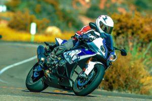 Austin riding motorcycle