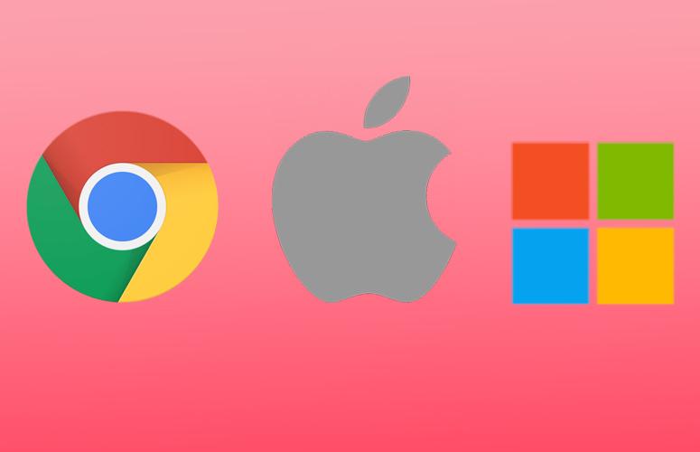 Logos for Chrome, Apple, & Windows