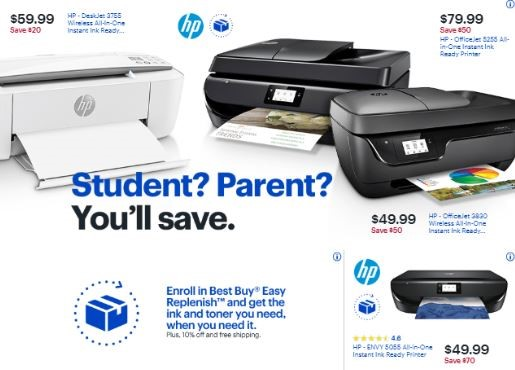 Best Buy printer and ink offers