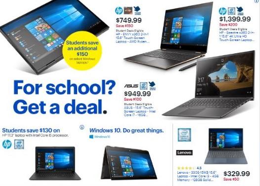 Best Buy student laptop discounts
