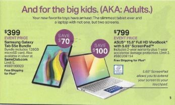 Sam's Club even pricing for big kids - adults