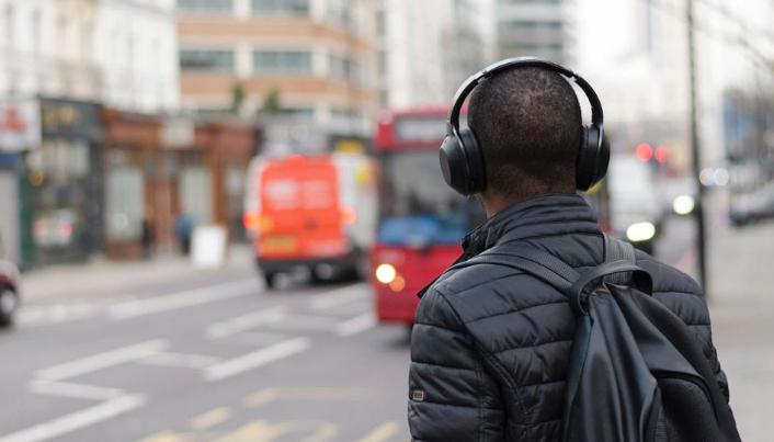 Guy with headphones.