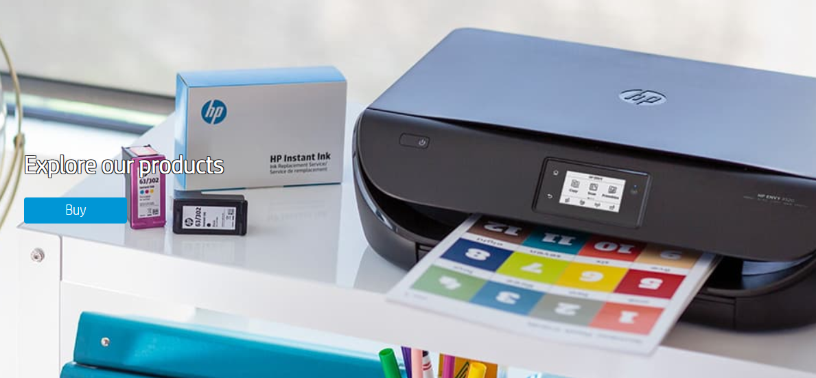 HP ENVY printer and Instant Ink.
