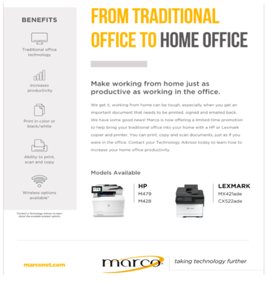 Marco Work From Home Printers