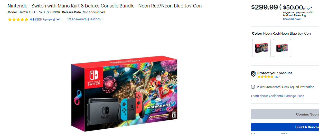 Nintendo Switch bundle price on Black Friday at Best Buy