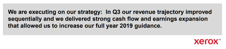 Xerox Earnings Quote